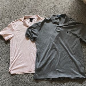 Lot of TWO polo collared tee shirts